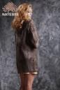 Пальто из каракульчи Swakara цвета какао