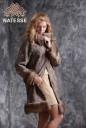 Дизайнерское пальто из каракульчи, отделка из куницы