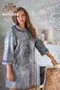 Пальто из серой бухарской каракульчи с камнями