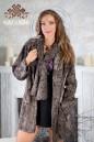 Пальто из каракульчи с воротником шарф