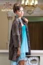 Пальто из свакары коричневой сур