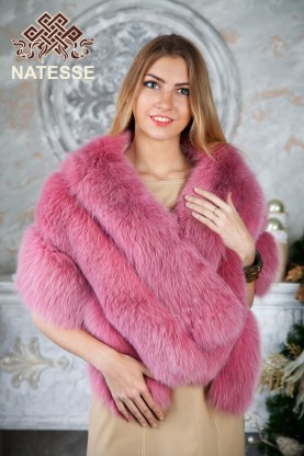 3-layer designer polar fox fur tippet