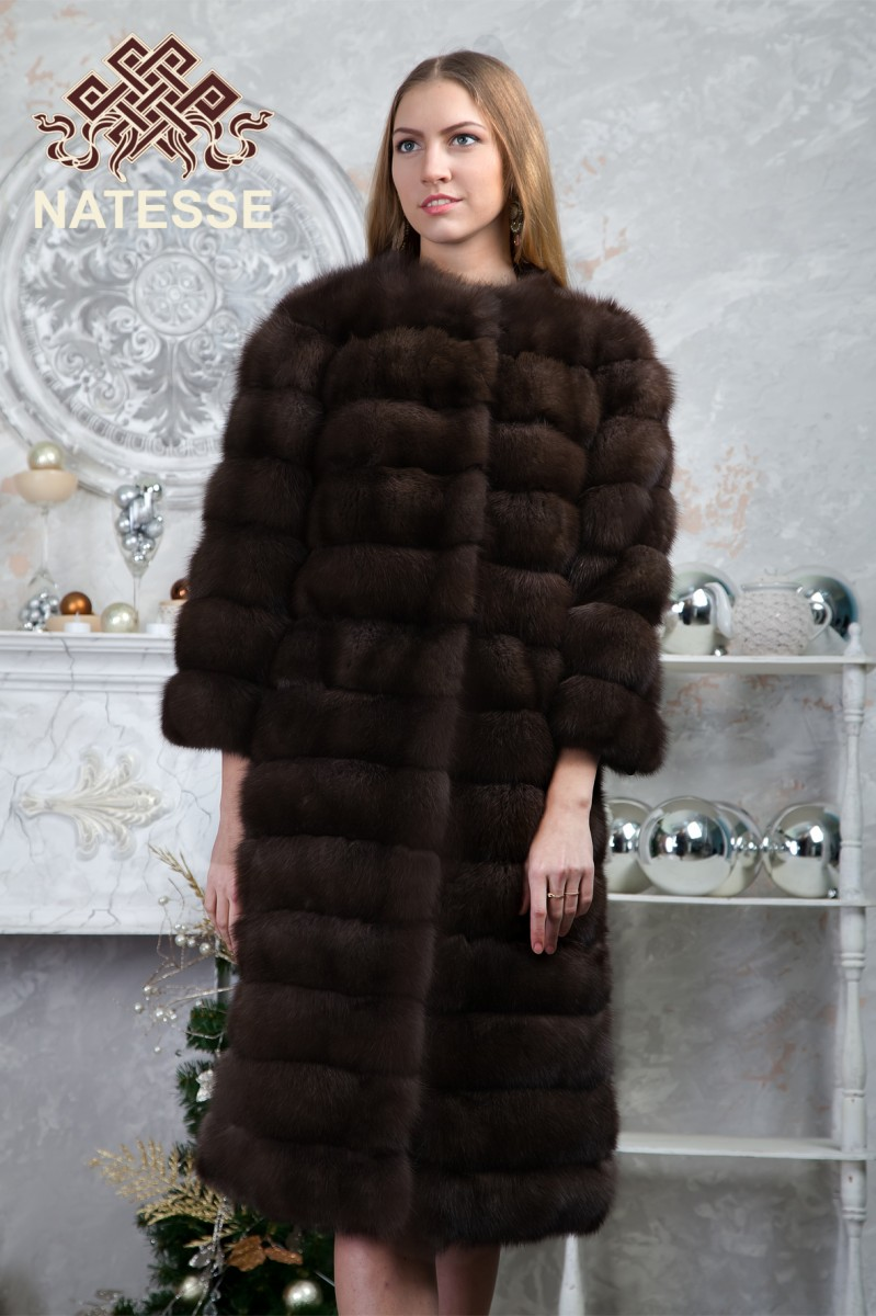 Barguzinskiy sable fur coat model Mystic for Sable Fur Cape  58lpg