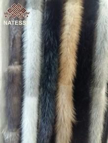 Пояс норковый из меха норки черный, темно коричневый, светло коричневый, серый, голубой