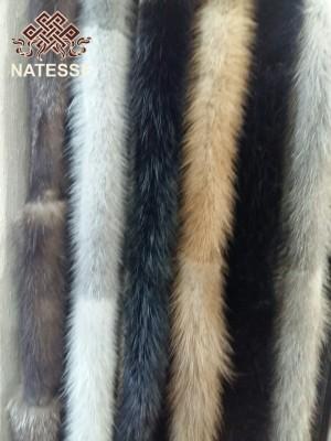 Mink fur belt sash 180 cm long