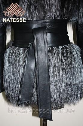 Adjustable-volume matte leather belt