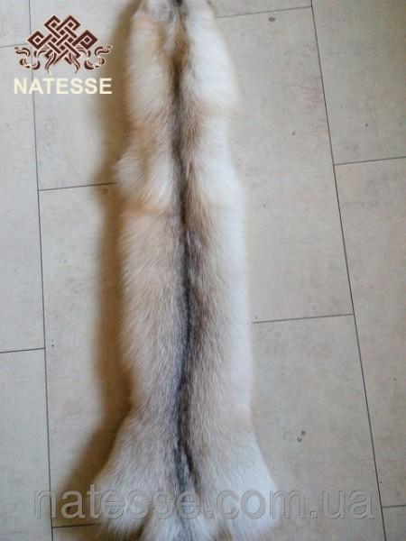 Шкуры мех канадской белой лисы Фани 85 см