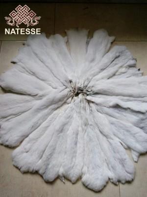 White chinchilla fur pelts