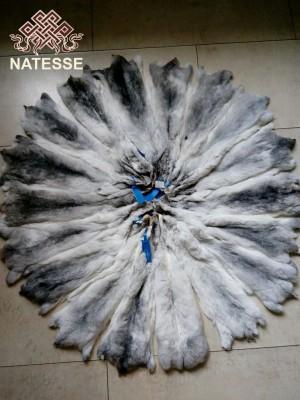 Marble chinchilla fur skins
