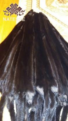 Шкуры мех норки темно-коричневой