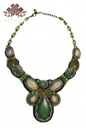 Aventurine and jasper necklace