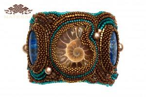 Jasper and lapis lazuli bracelet